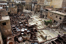 Tanneries Fez Morocco 11584