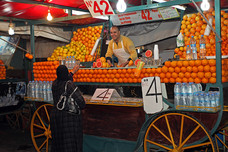 Orange Juice Seller Jemaa el-Fnaa Morocco 11606