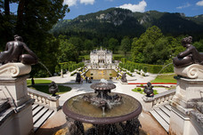 Terrace Gardens Linderhof Palace Germany 12220