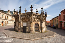 Medieval Stone Fountain Kutna Hora Czech Republic 12336