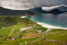 Vik Beach Valley Mannen Ridge Norway 12549