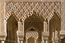 Alhambra  Palacio Nazaries The Courtyard of the Lions Granada Spain 7904