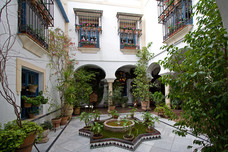 Courtyard Juderia Cordoba Spain 7974