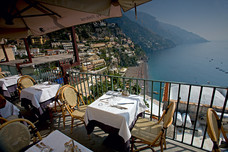 Amalfi Coast Positano Restaurant View Naples Bay Italy 8469