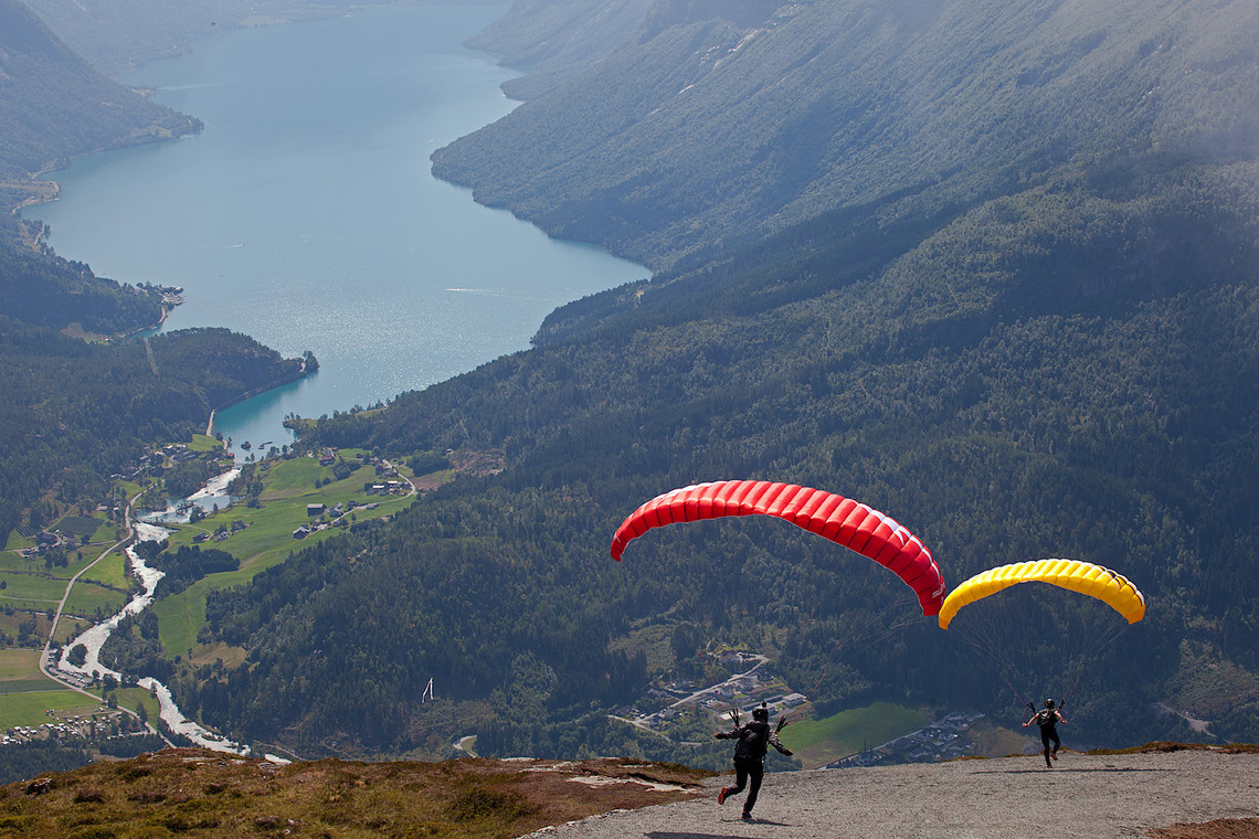 Flying Like a Bird Mount Hoven Norway 13219