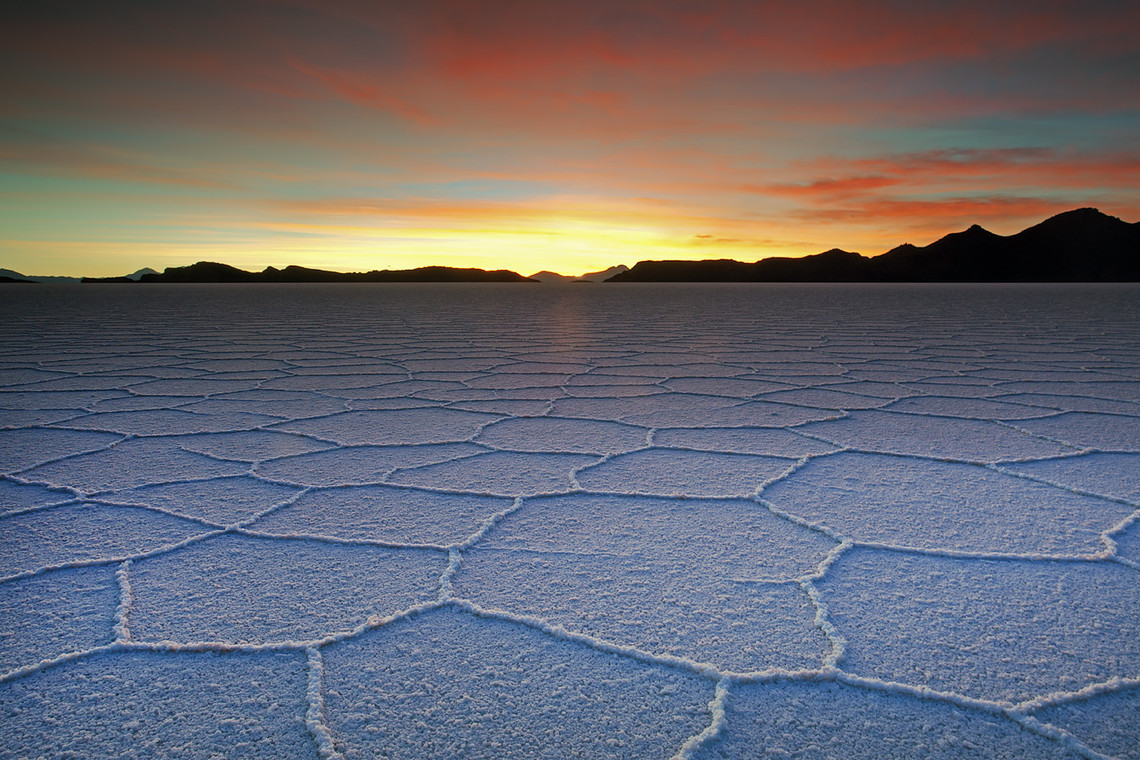 Sunset Texture Uyuni Salt Lake Bolivia 9986